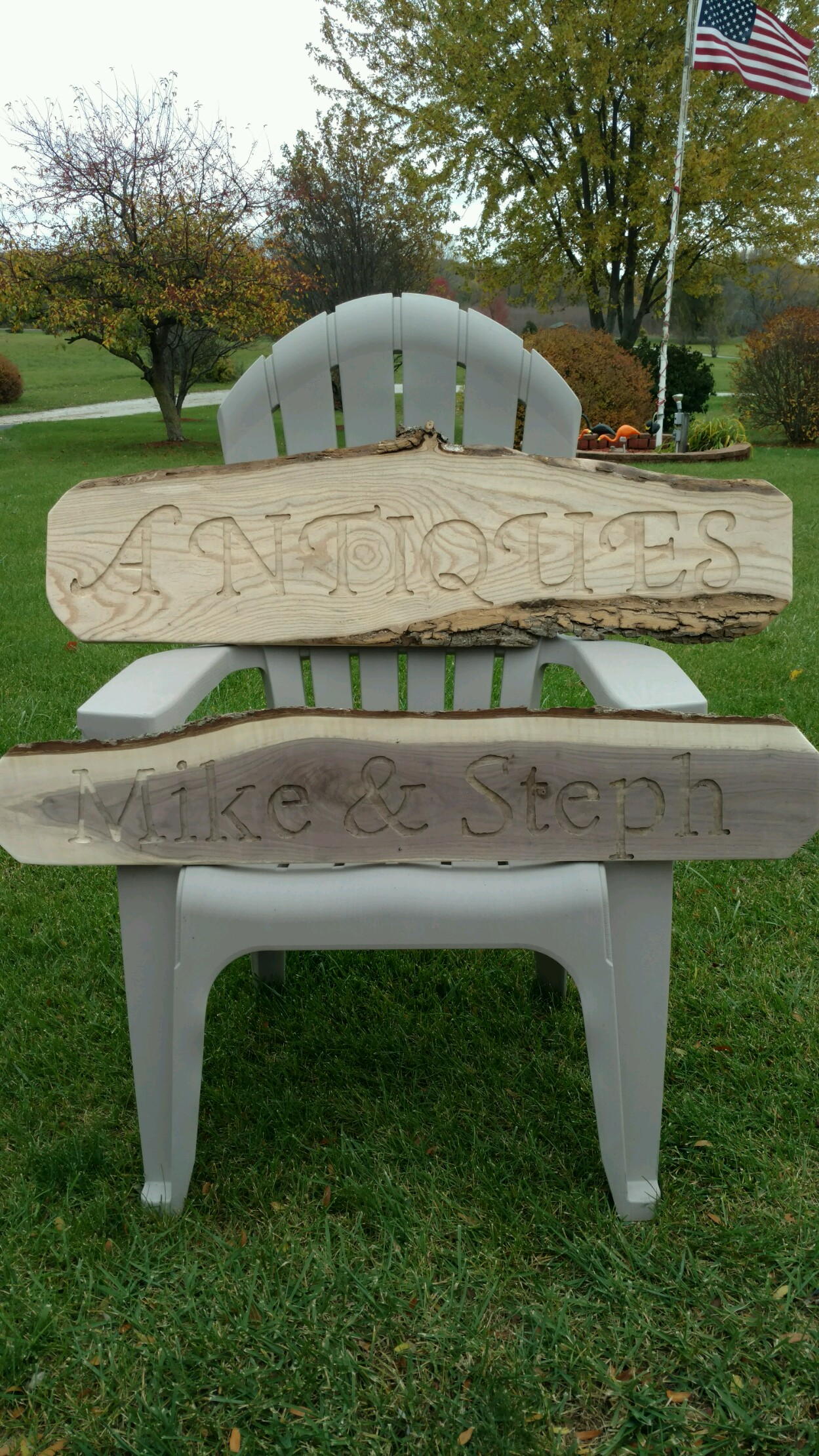 Outstanding Rustic Outdoor Signs With Live Edge Lumber Evergreenethics Interior Chair Design Evergreenethicsorg